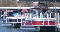 5 23 foot Crest Pontoons with 115 HP Mercury Outboards